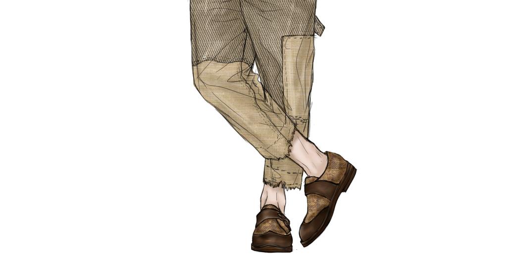 手绘图牛仔男装