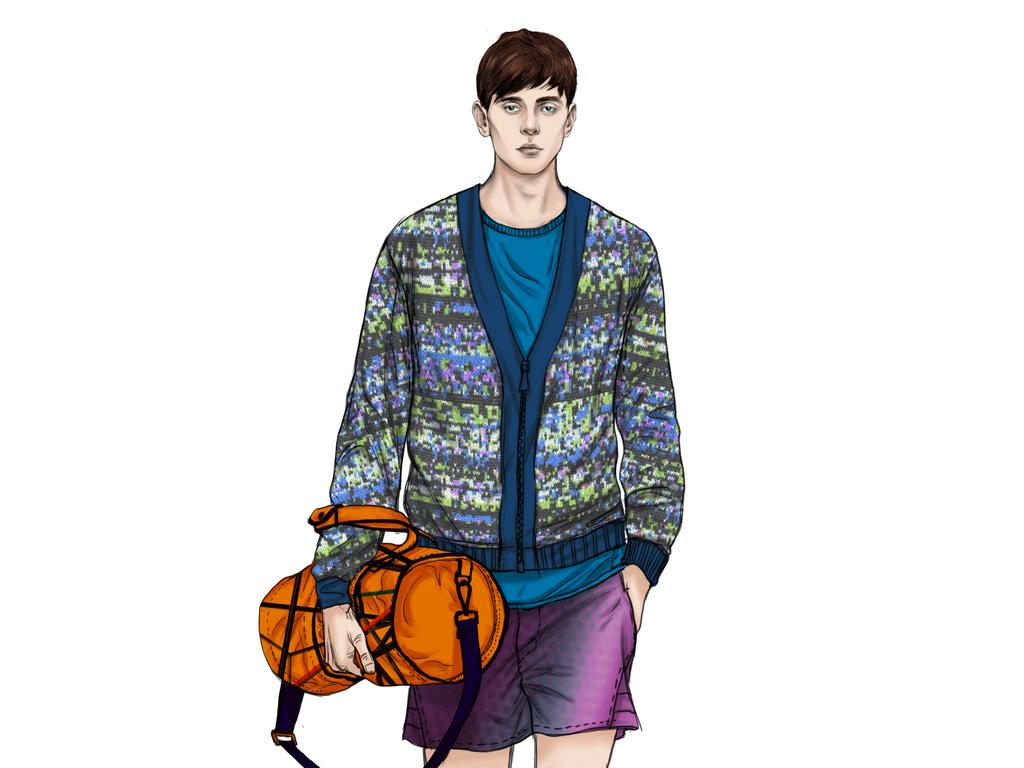 休闲男士服装效果图时装画服装设计高清素材图片