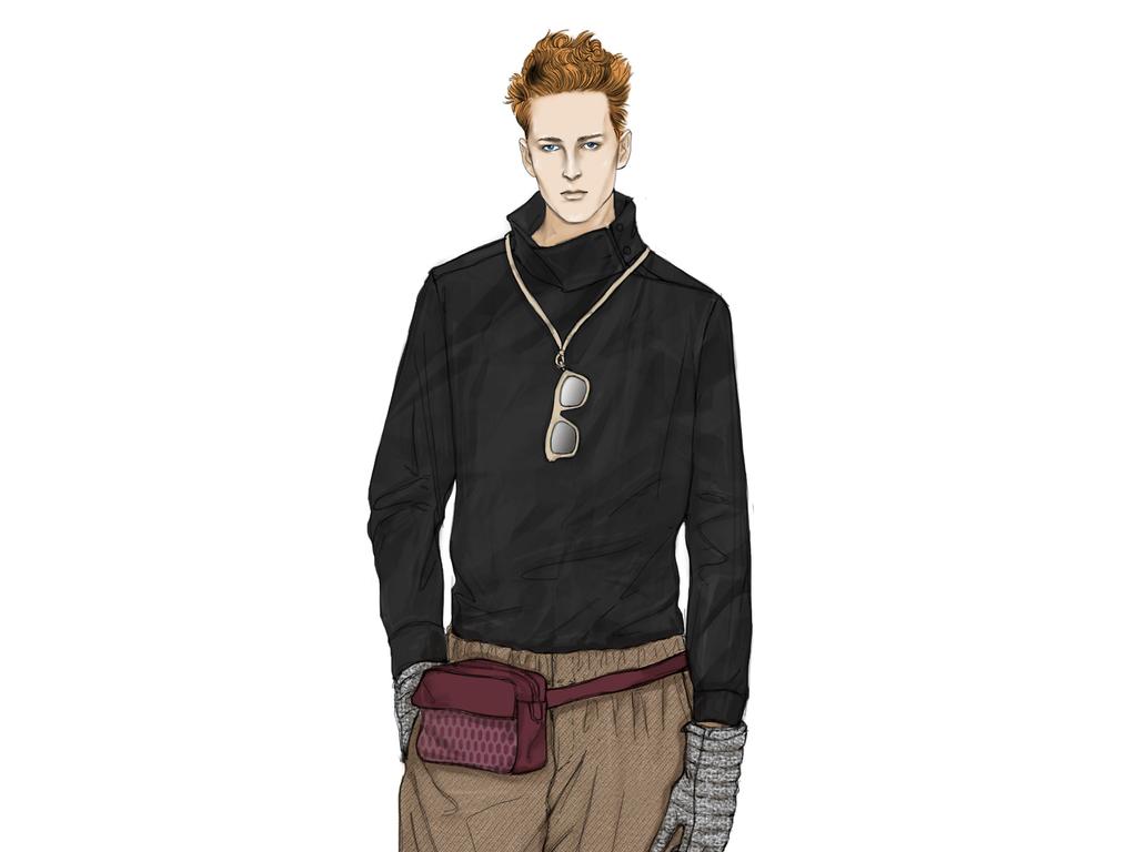 服装设计 服装手稿 其他手稿 > 潮牌男装效果图高清图成衣设计手稿