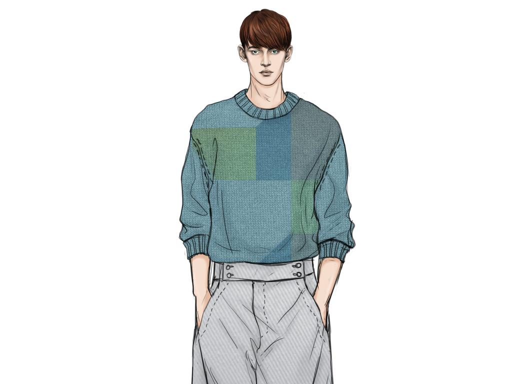 服装设计 服装手稿 其他手稿 > 高清装饰画素材男装毛衣时装设计手稿图片