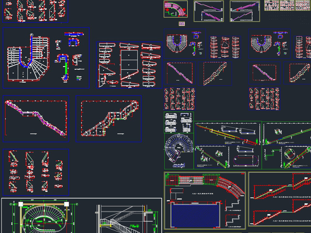 钢结构木制楼梯cad图库室内设计图库家具图库家装图库立面图库大样图