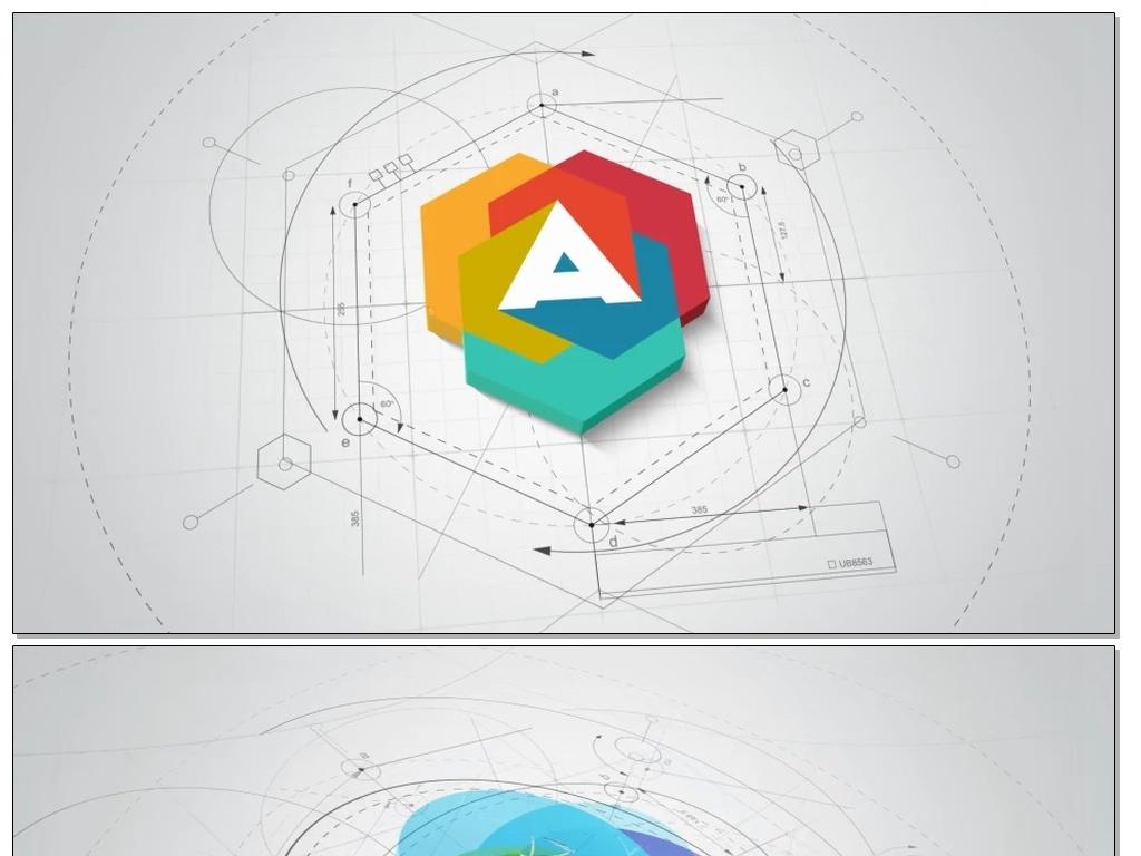 作品模板源文件可以编辑替换,设计作品简介: logo展示动画ae模板