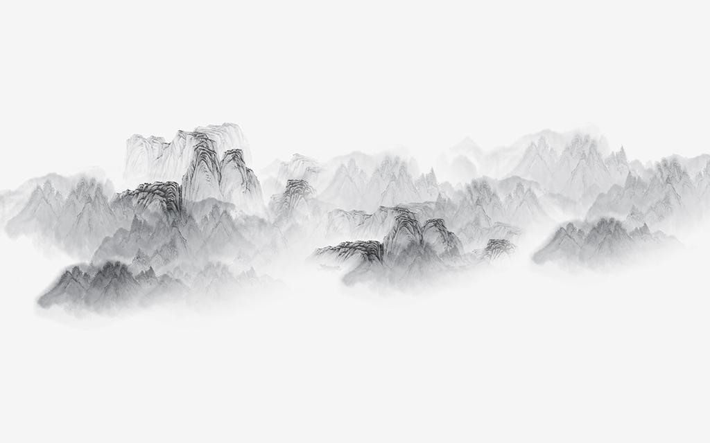 新中式水墨山水背景墙卧室装饰壁画 位图, rgb格式高清大图,使用软件图片