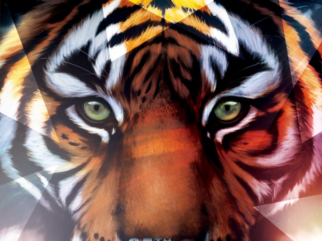 野生动物公益海报保护动物创意声音卡通老虎老虎剪纸老虎大全小老虎