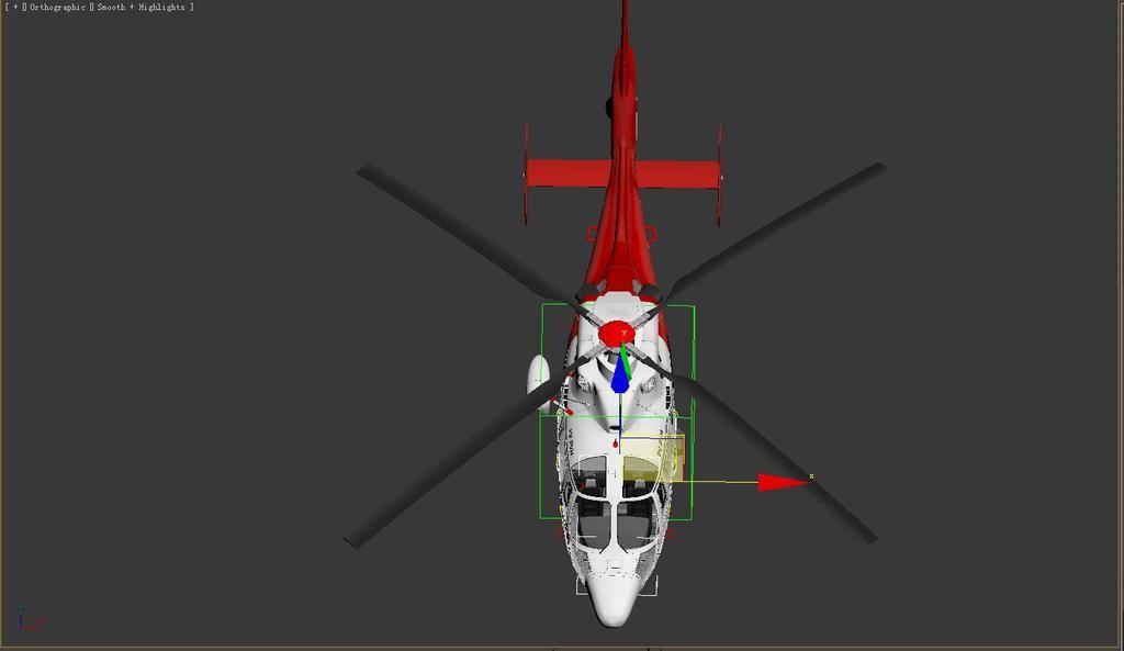 高精度直升飞机模型3d动画模型完整贴图精细