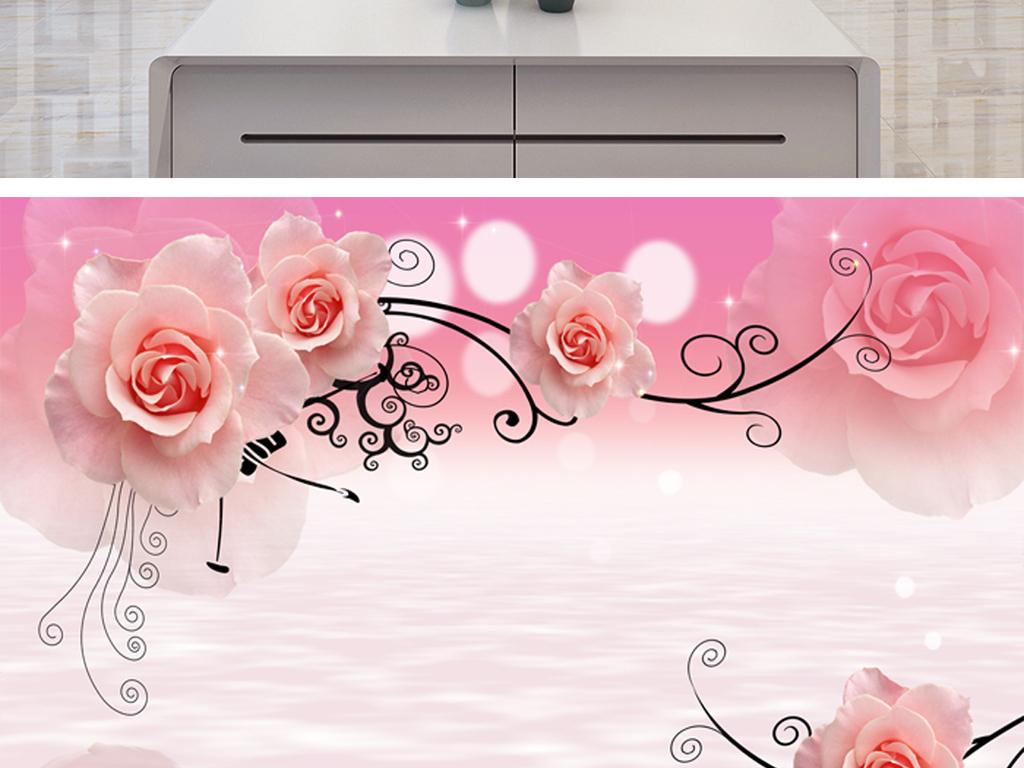 花朵3d手绘透明