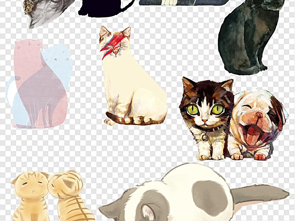 可爱猫咪小猫咪猫咪logo猫咪手绘