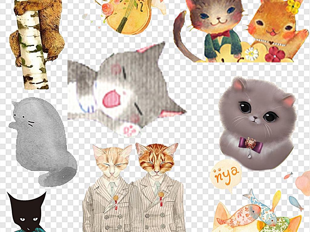 卡通猫咪手绘猫咪可爱猫咪小猫咪