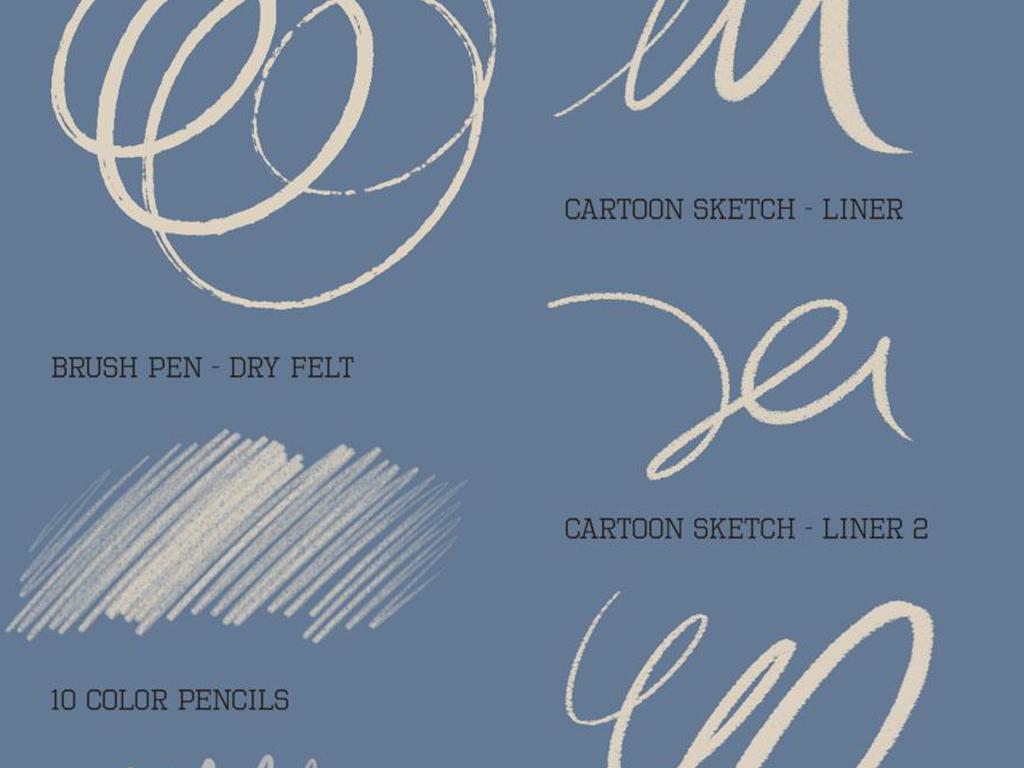 铅笔手绘美术字宋体