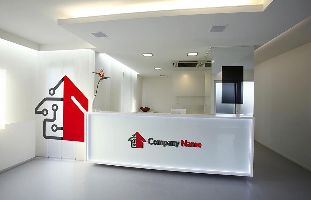 智能家居装修logo标志设计