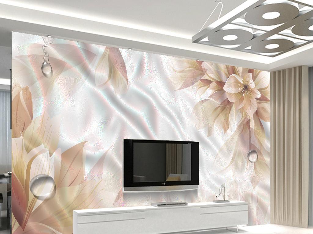 唯美奢华花卉电视背景墙(图片编号:16076899)