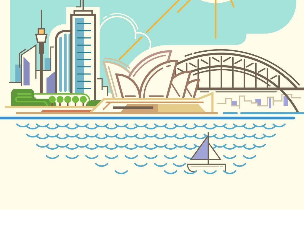 少儿手绘城市图片大全