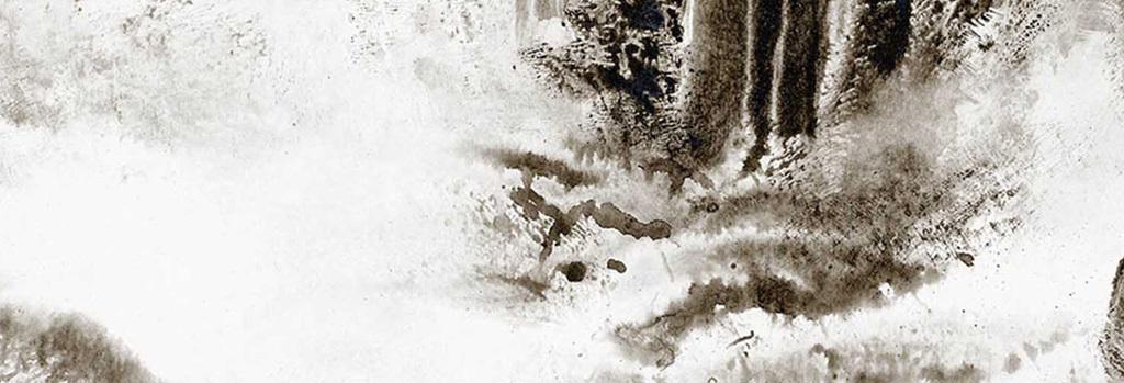 现代新中式山水水墨抽象装饰画无框画图片