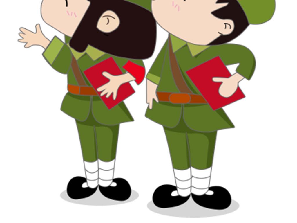 当兵展板三军素材                                  卡通人物素材