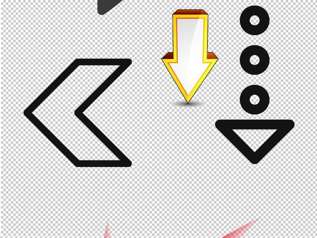 箭头方向导标图标设计海报素材