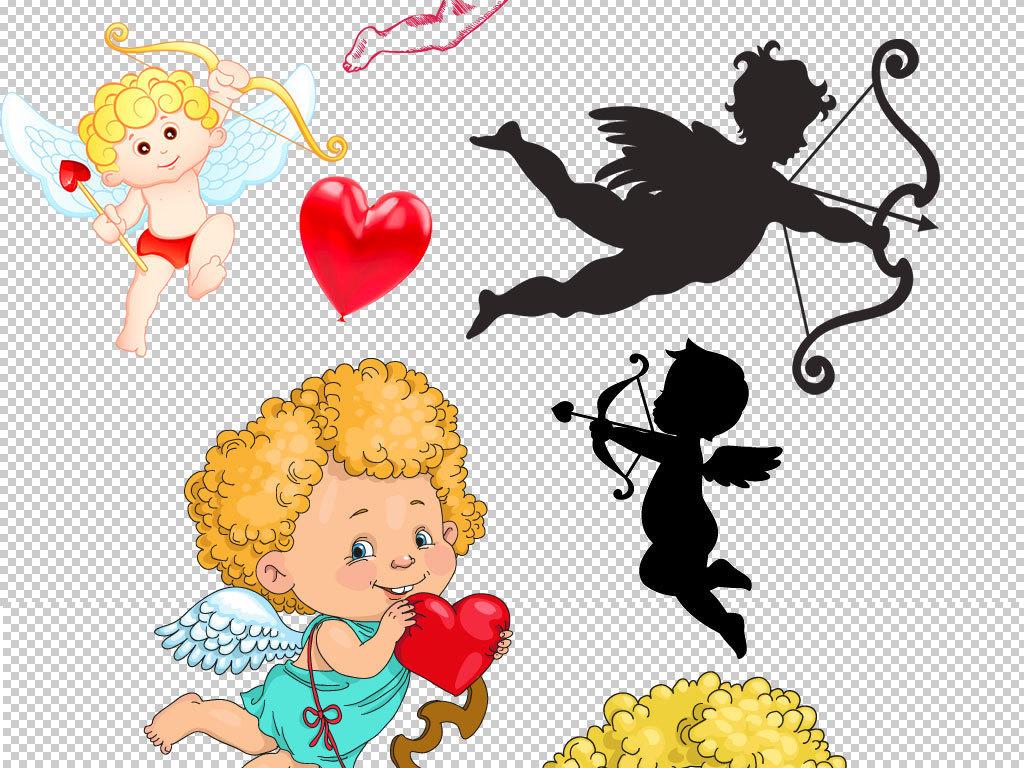 卡通丘比特情人节人物素材图