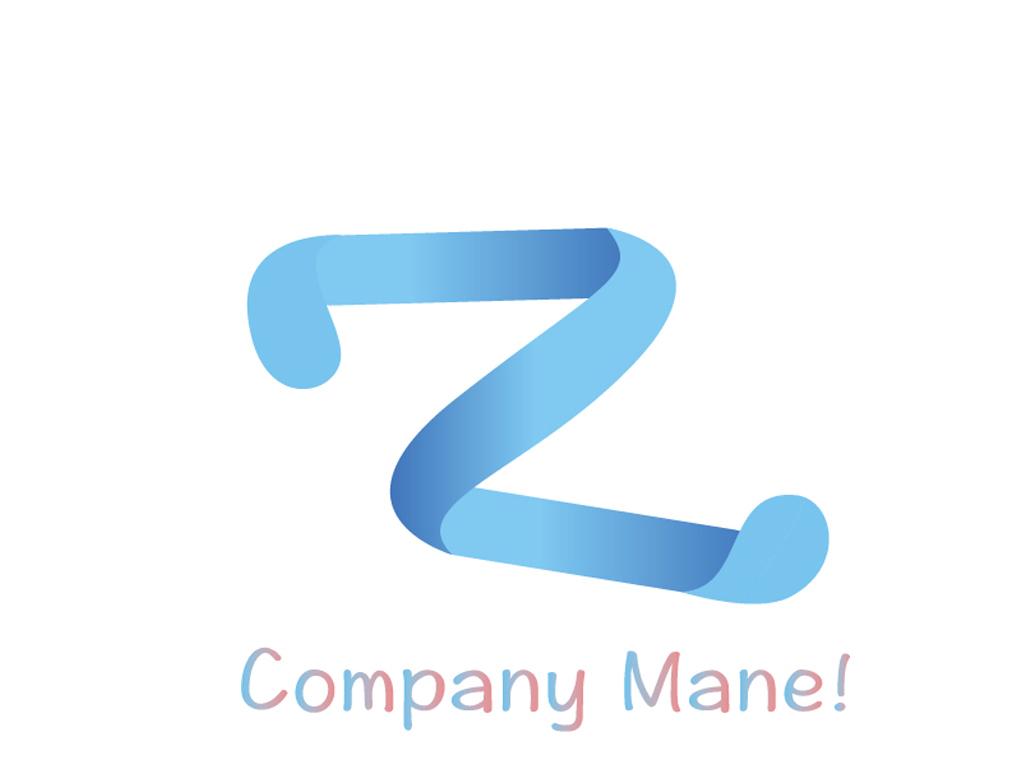 渐变字母zlogo标志设计矢量大图图片