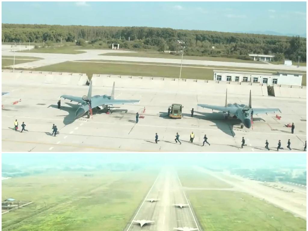 空军飞机场军用机场跑道战斗机实拍高清视频