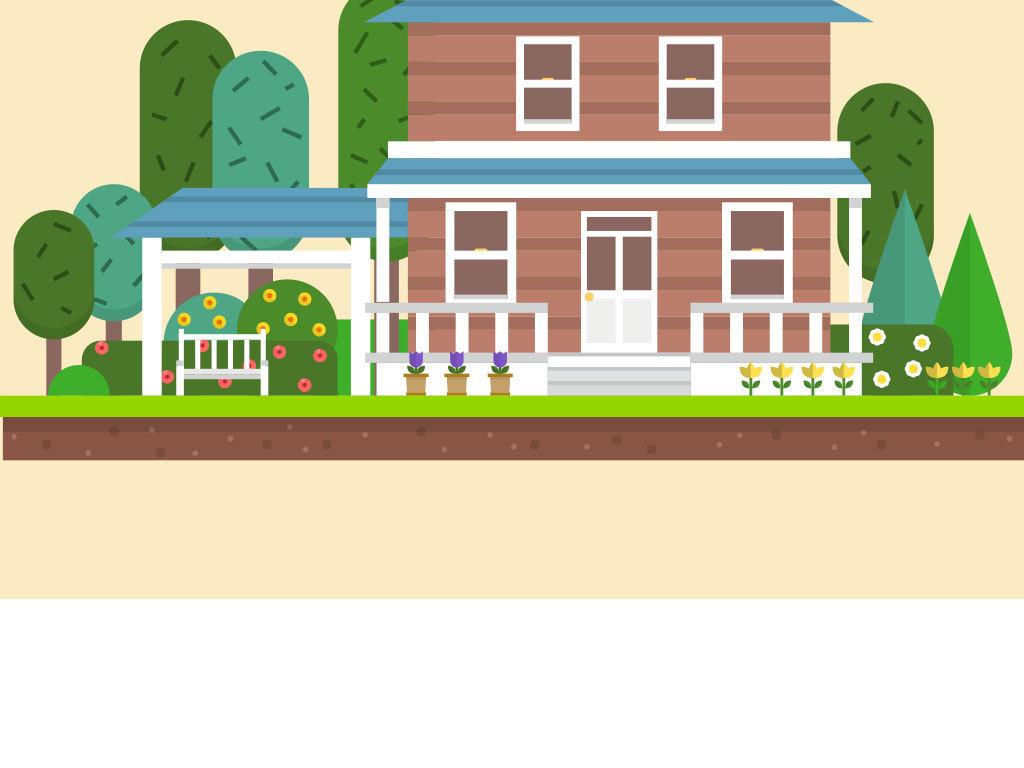 卡通手绘房子设计高清图