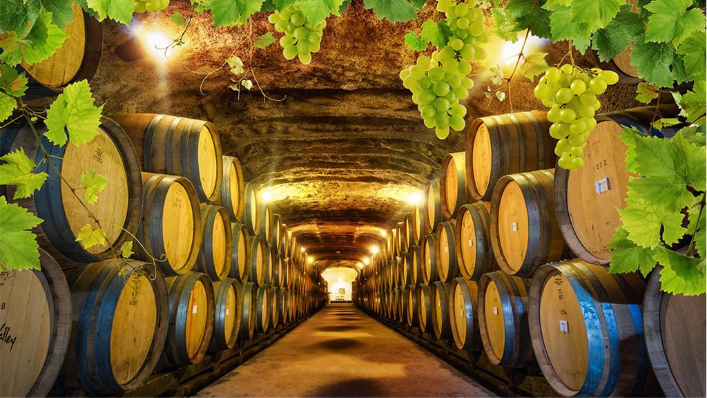欧式复古怀旧酒窖酒吧装饰背景墙