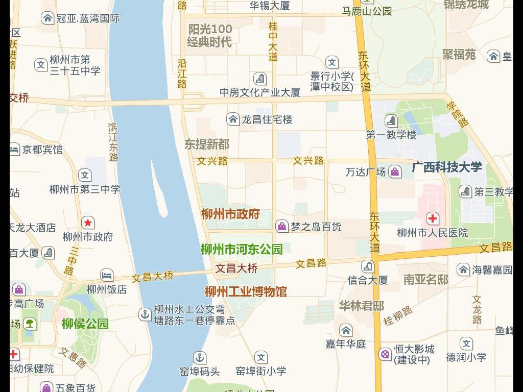 柳州市地图电子版地图图片下载
