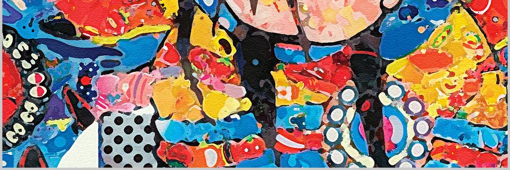 装饰画手绘油画客厅剪纸春节酒店咖啡厅配画美式欧式花边插画水彩门神