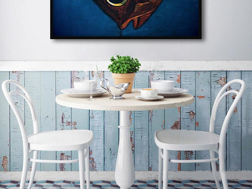 客厅欧式卡通带餐桌