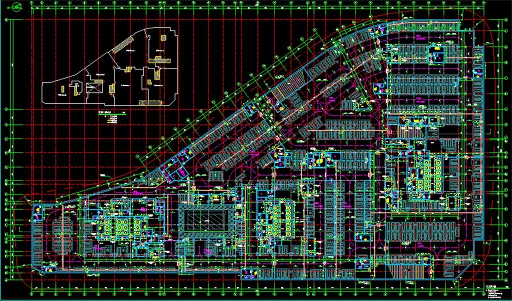 结构停车位小区地下停车场cad停车场设计地下停车场