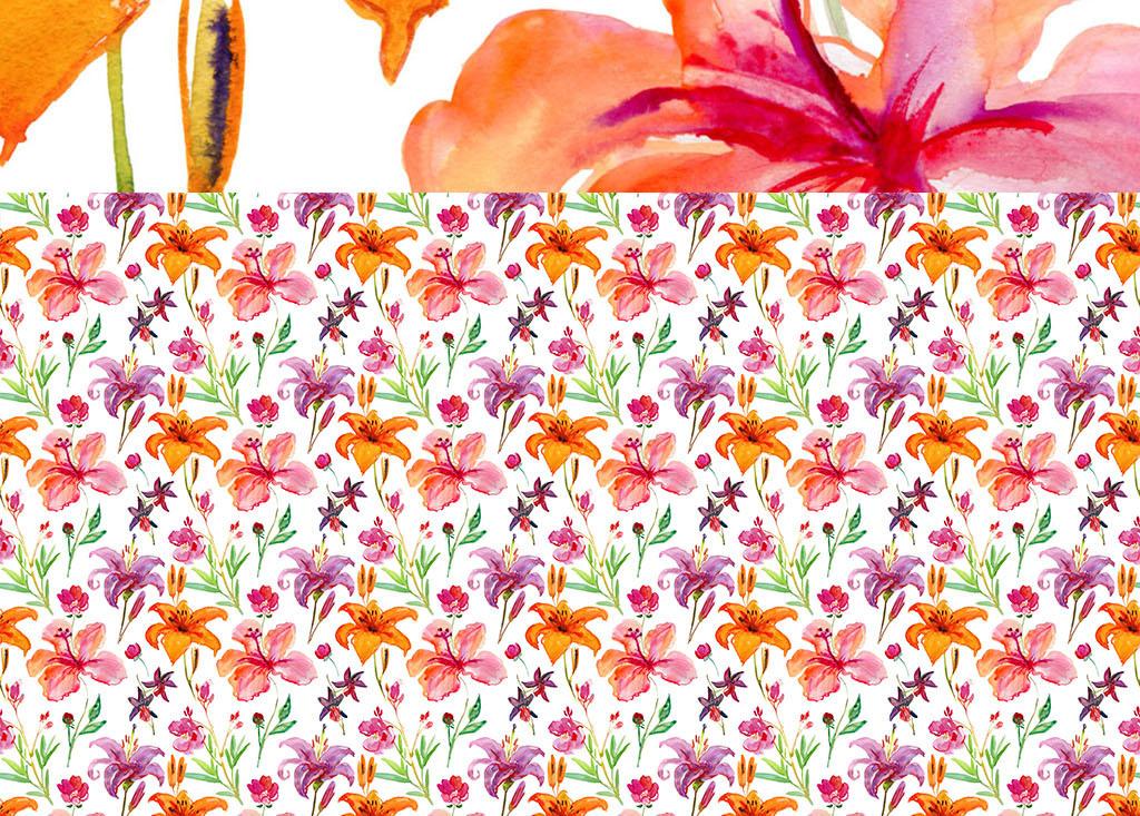 墙纸简约壁纸现代3d立体时尚欧式背景墙浪漫玫瑰手绘