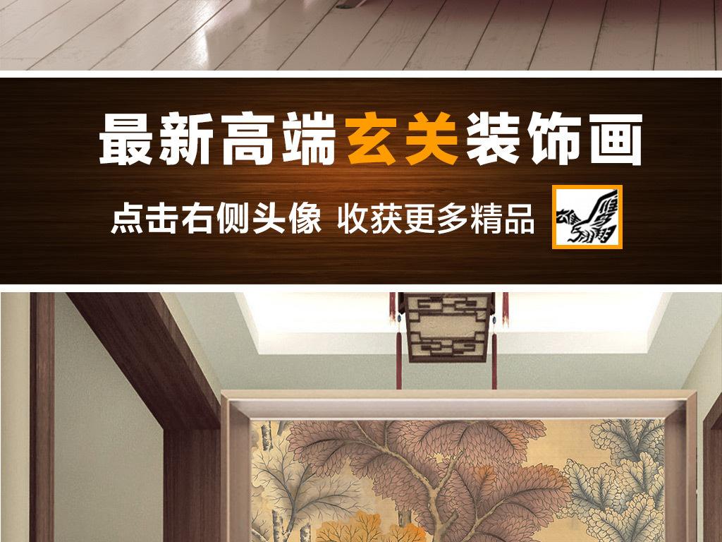 木板木纹酒吧鹿树干公鹿布纹纸纹古典小鸟手绘背景