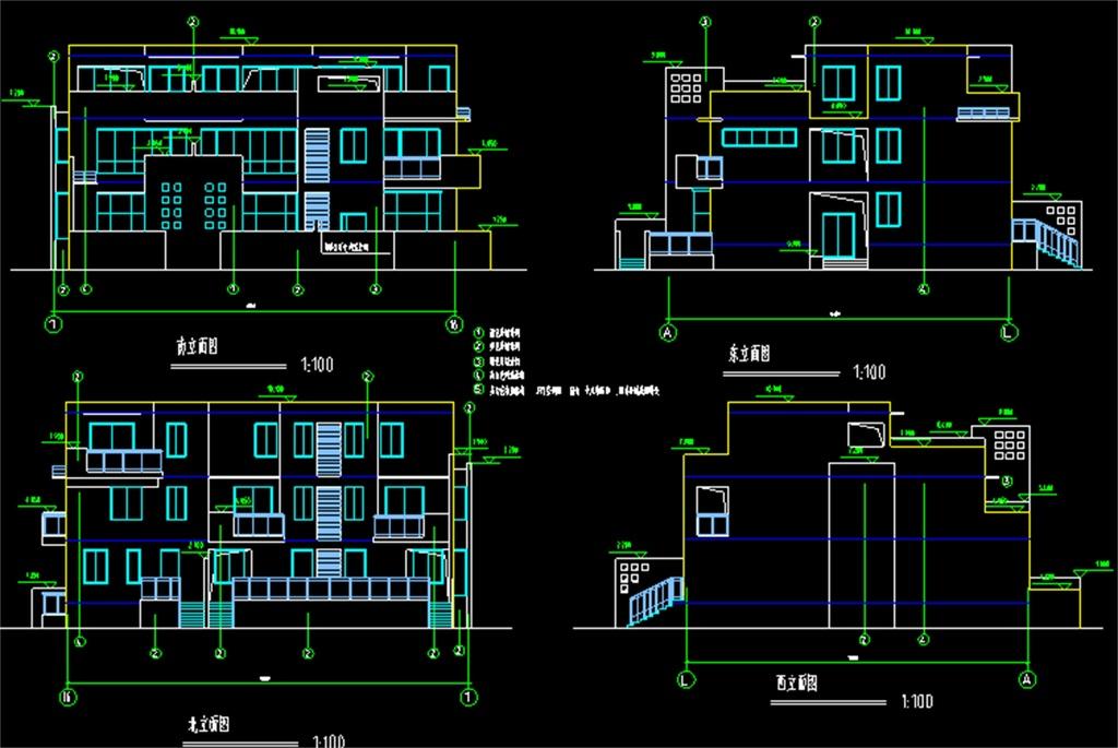 10米x11自建房带商铺设计图展示