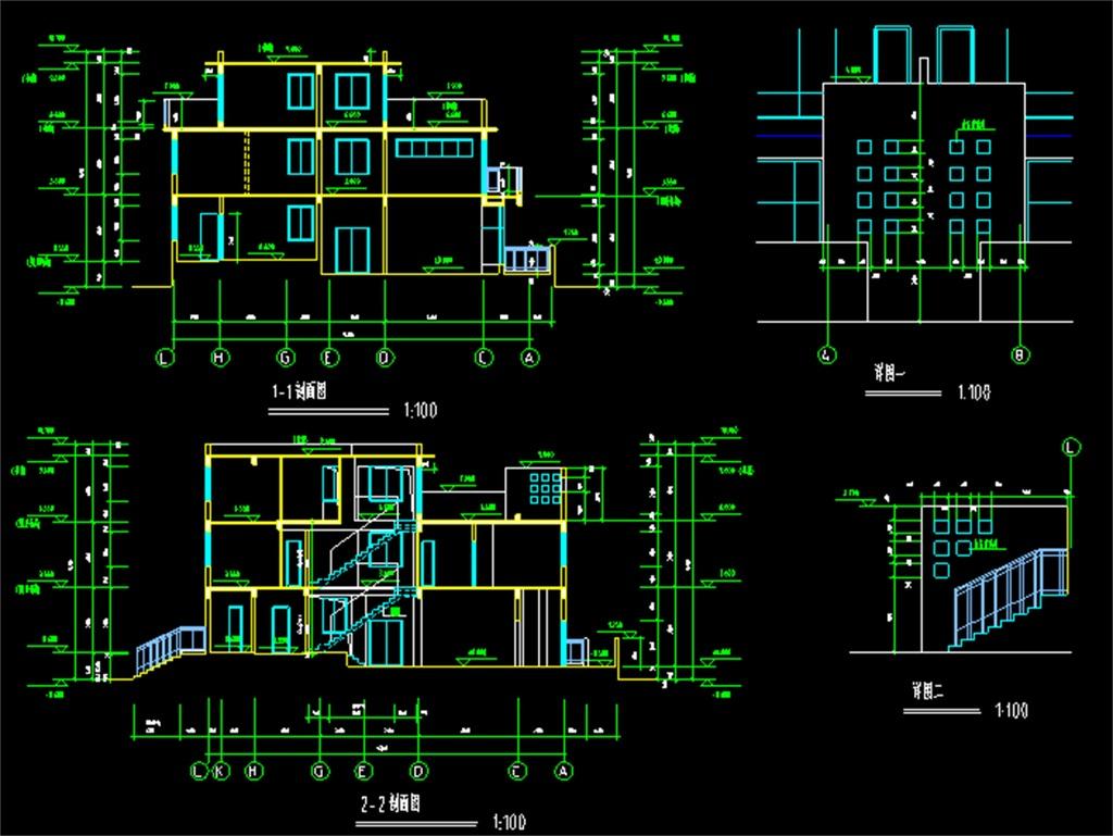 民房自建房CAD设计图