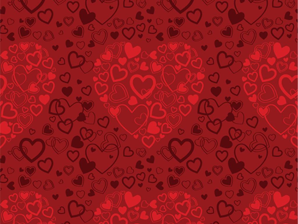手绘海报节日喜庆名片邀请函红色背景红色创意创意背景情人节背景情人