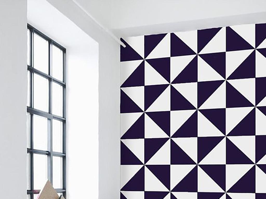 北欧简约现代几何图案时尚客厅背景墙装饰画图片