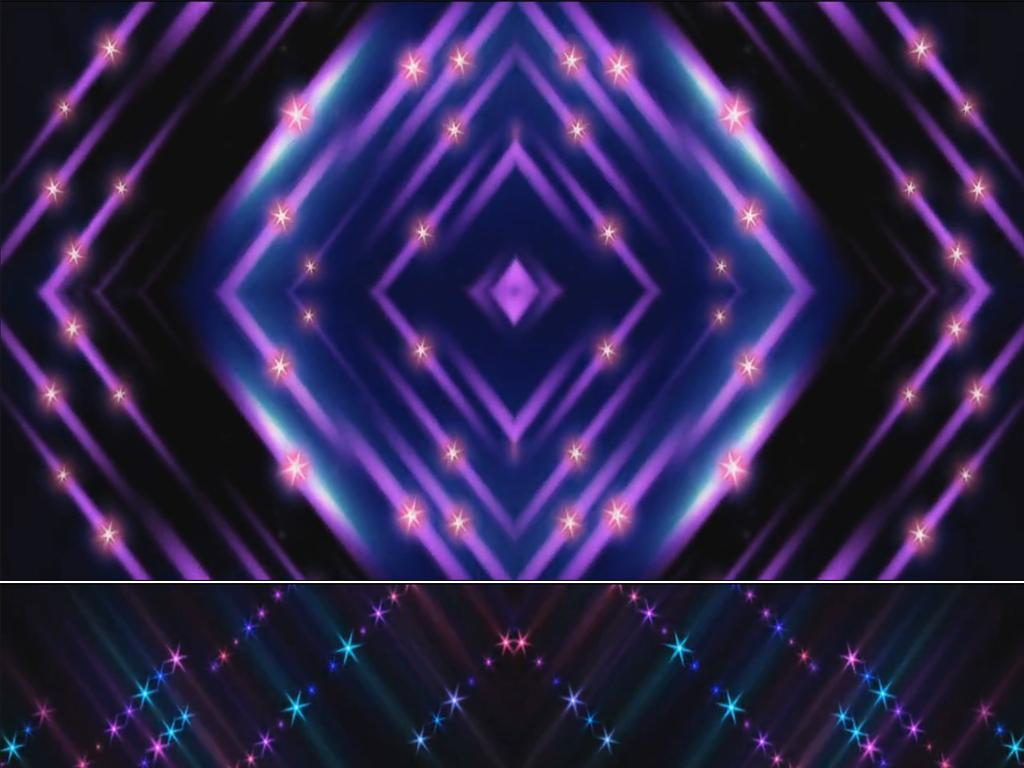炫彩粒子动感舞台背景led视频