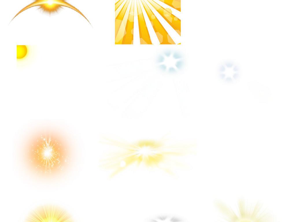 各种太阳光线素材免抠png透明素材