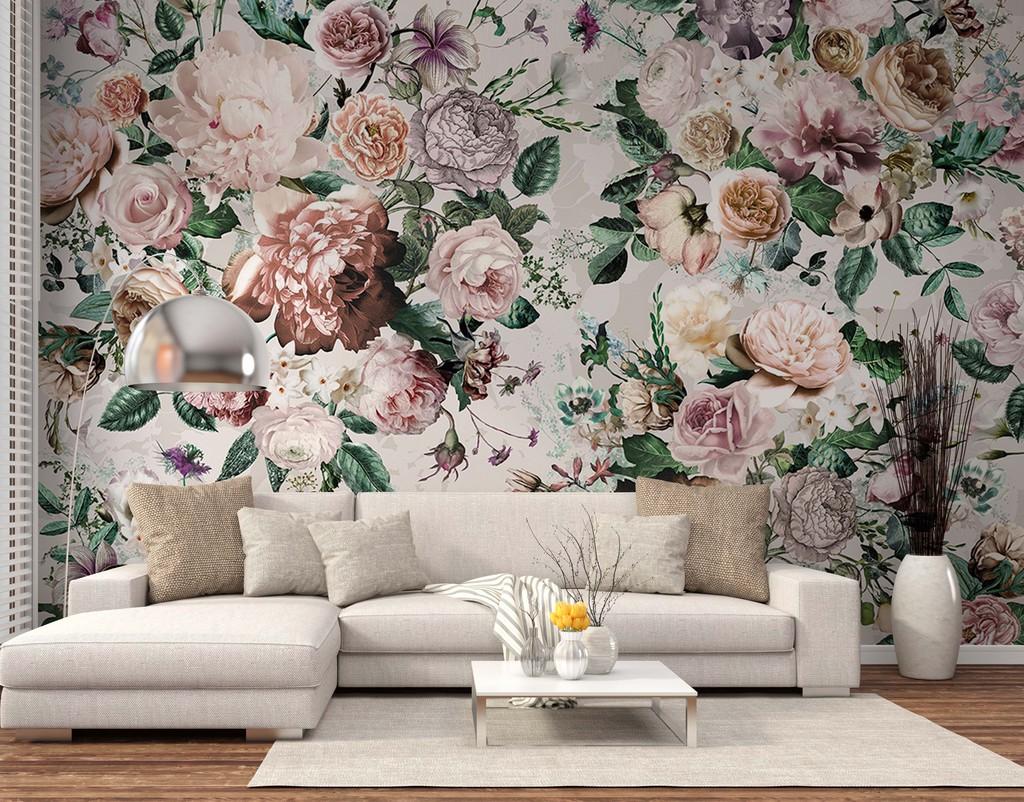 psd)                                  沙发背景墙手绘简约背景
