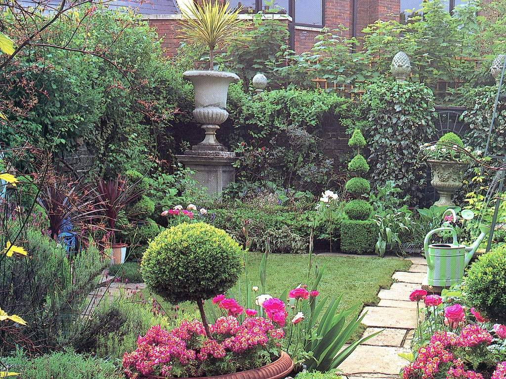 花草植物园林种植绿化院子家居一角图片