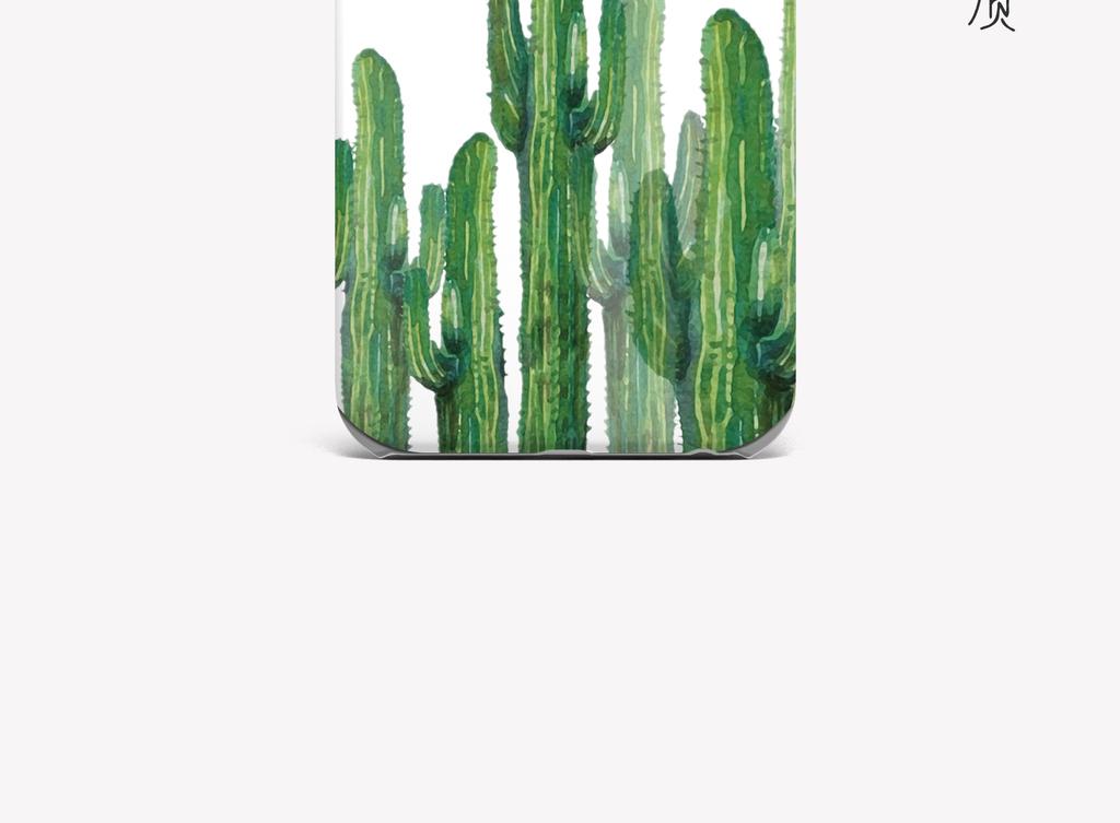 简约卡通时尚插画简约植物仙人掌手机壳图案