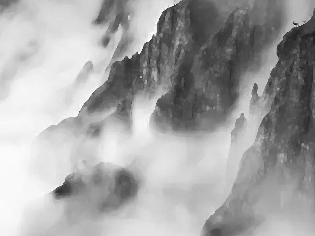 背景墙|装饰画 电视背景墙 手绘电视背景墙 > 大型水墨山水画行云流水