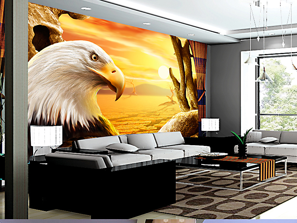 电视手绘背景墙玉雕背景墙电视背景墙壁画玄关背景墙