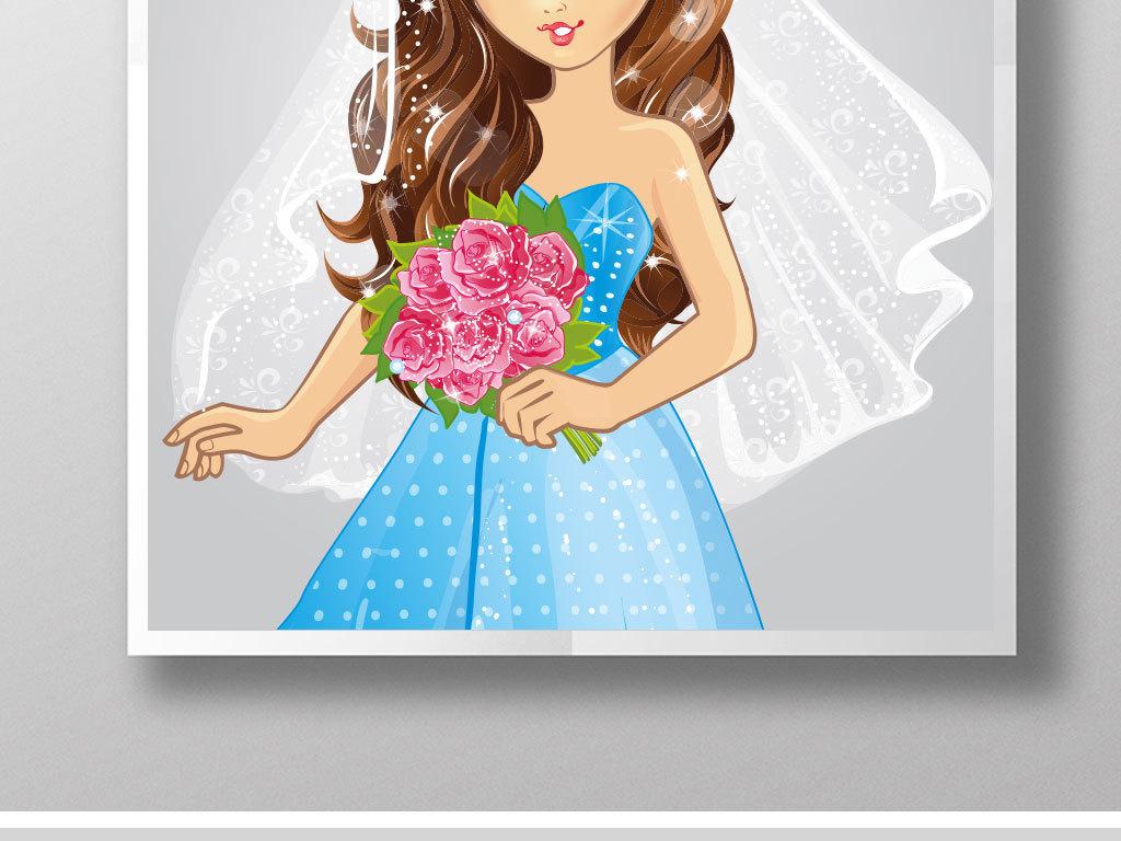 可爱动漫手绘新娘