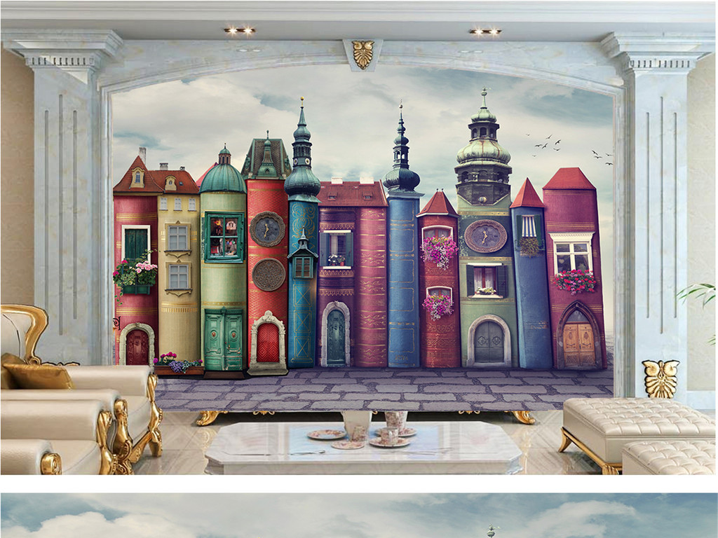 手绘壁画女孩房间