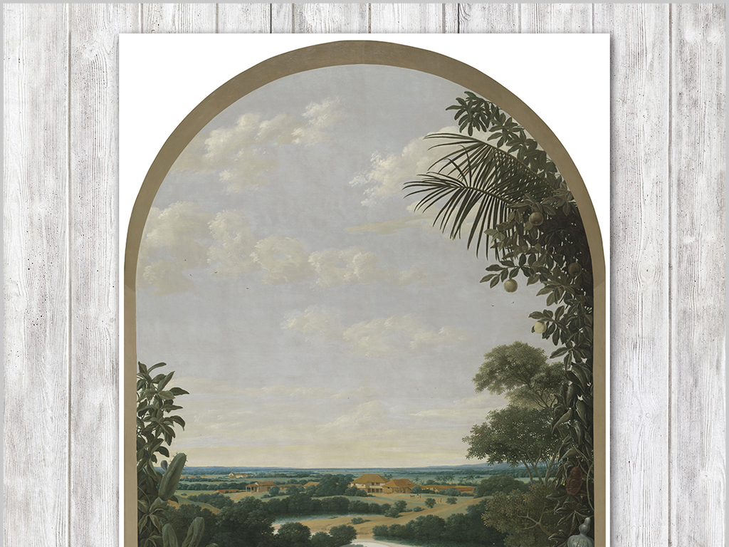 欧式古典田园风景油画电视背景墙装饰画