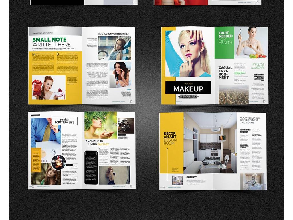 2017潮流时尚杂志设计企业宣传画册模板