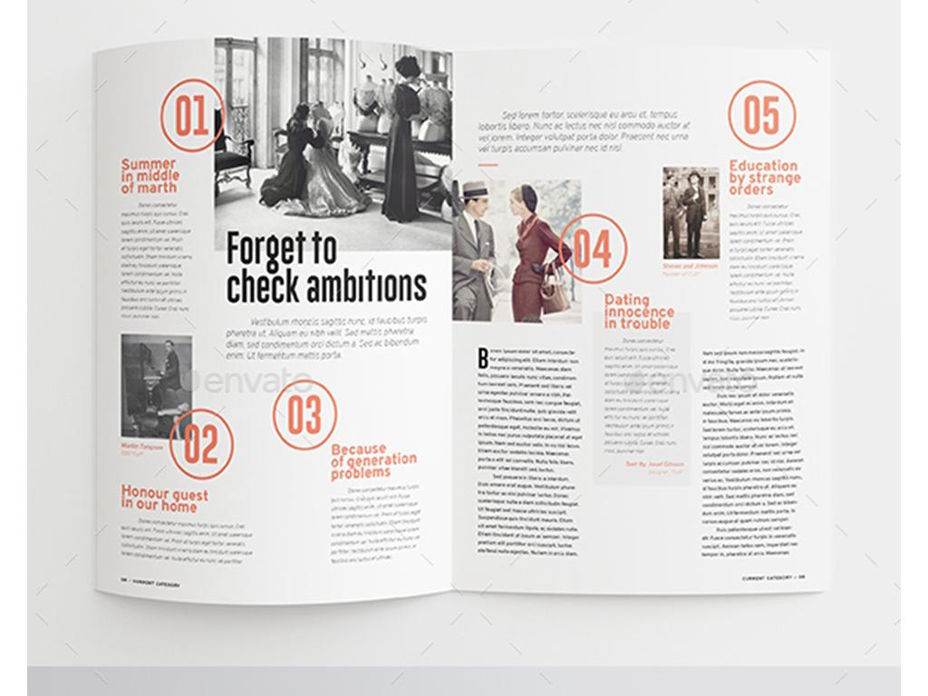 2017简约时尚杂志设计公司宣传画册模板