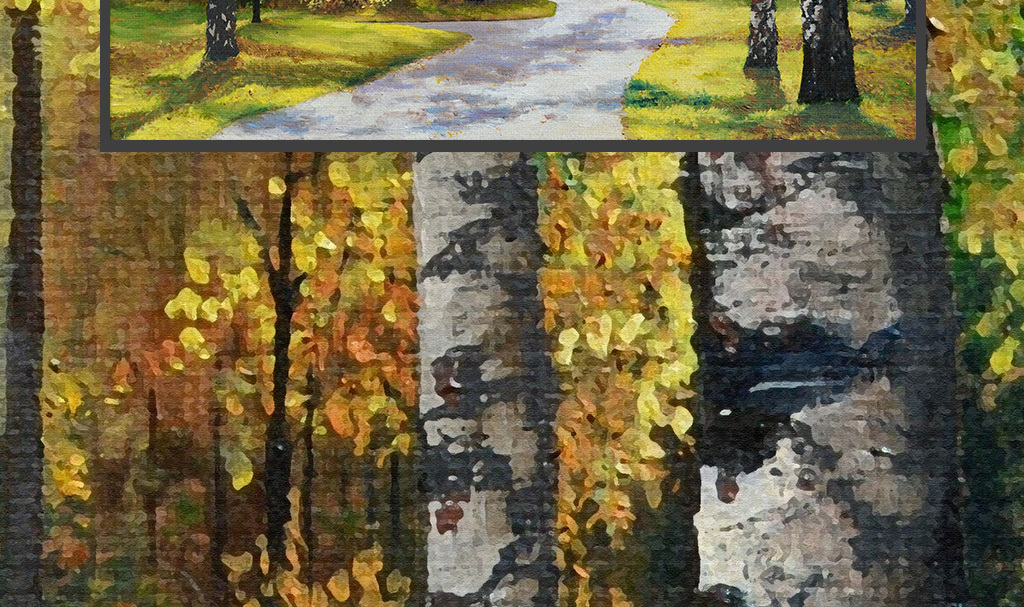 电视墙手绘欧式美式现代                                  树林