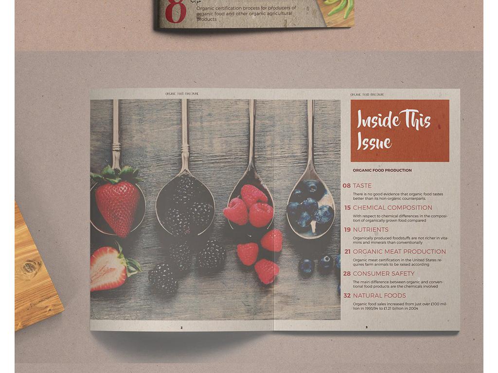 画册模板书籍封面餐厅画册id模板