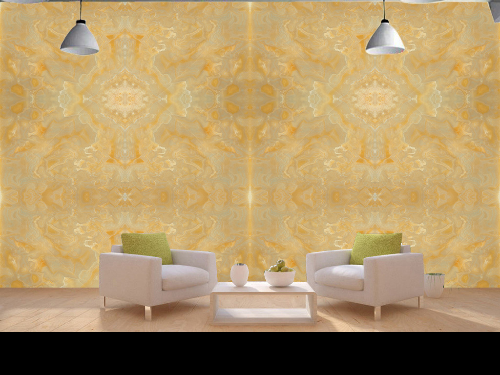 欧式简约花纹大理石背景墙客厅沙发装饰壁画