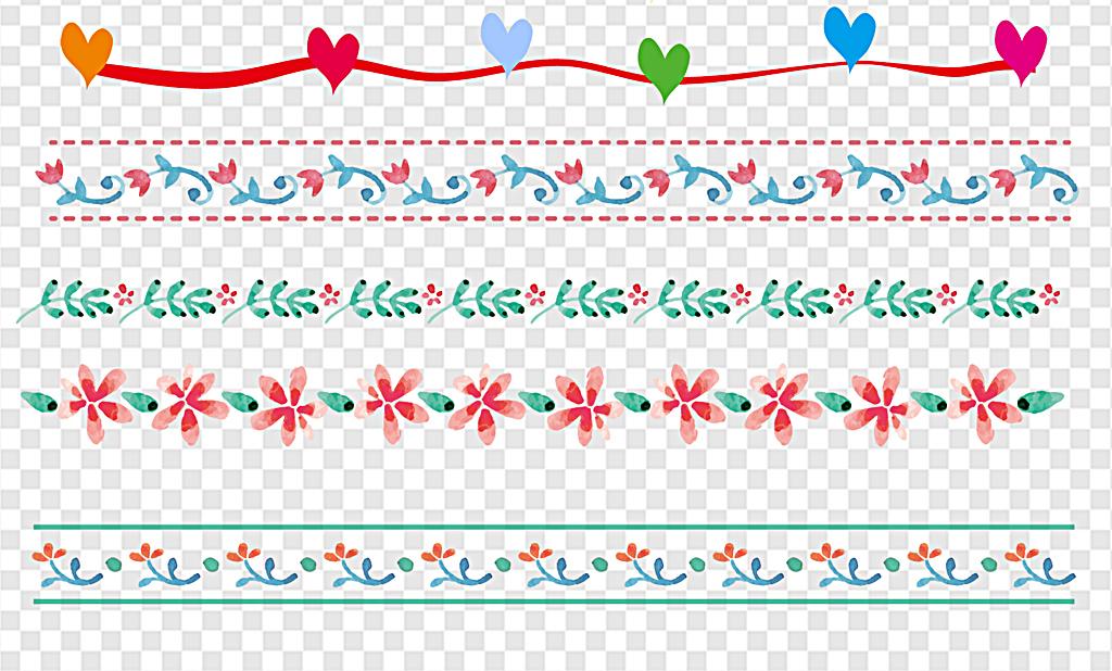 简约线条花纹边框元素分割线简约大气分割线欧式